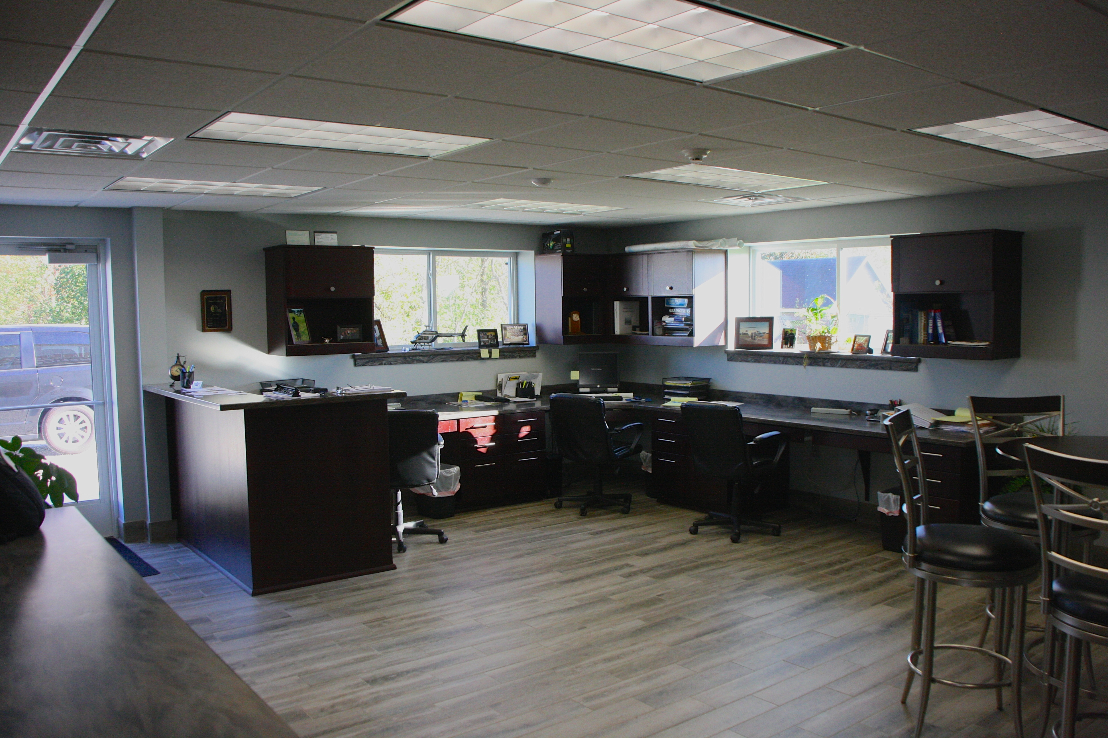 Commercial Helicoptor Hangar With Interior Office